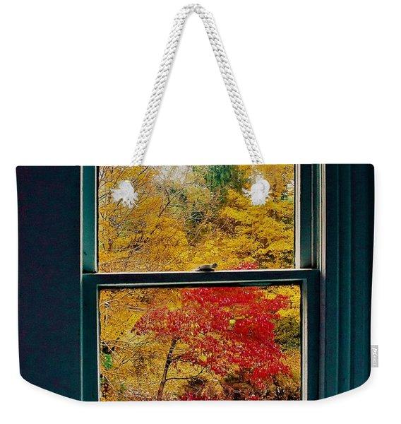 Winter Window Weekender Tote Bag