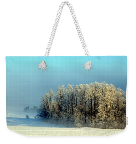 Winter's Heavy Frost Weekender Tote Bag