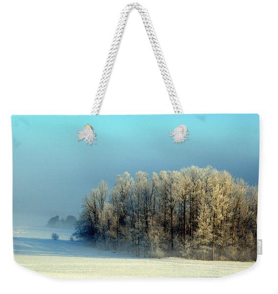 Winter's Heavy Frost Weekender Tote Bag