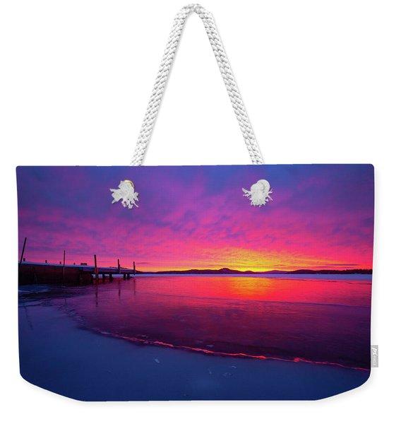 Winters Whisper Weekender Tote Bag