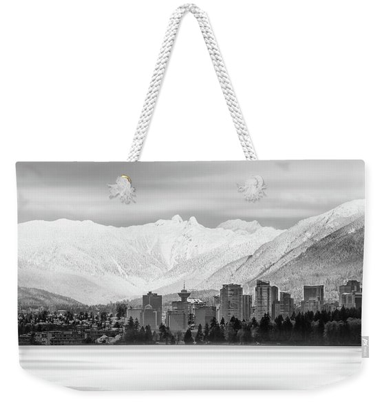 Winterscape Vancouver Weekender Tote Bag