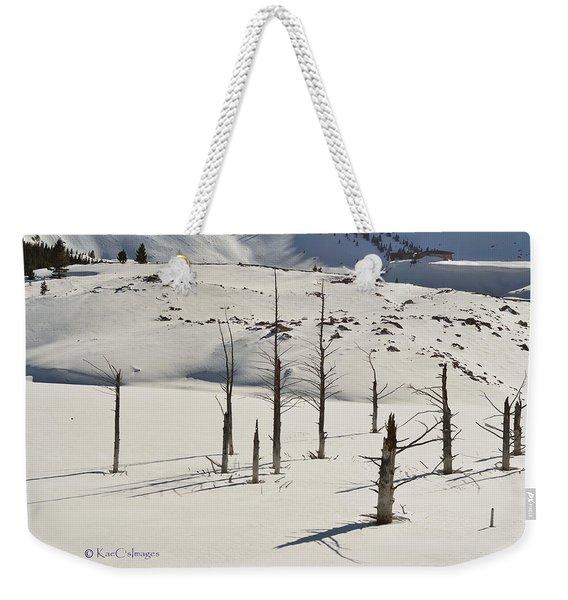 Wintertime At Quake Lake Weekender Tote Bag