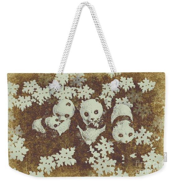 Wintertime Design Weekender Tote Bag