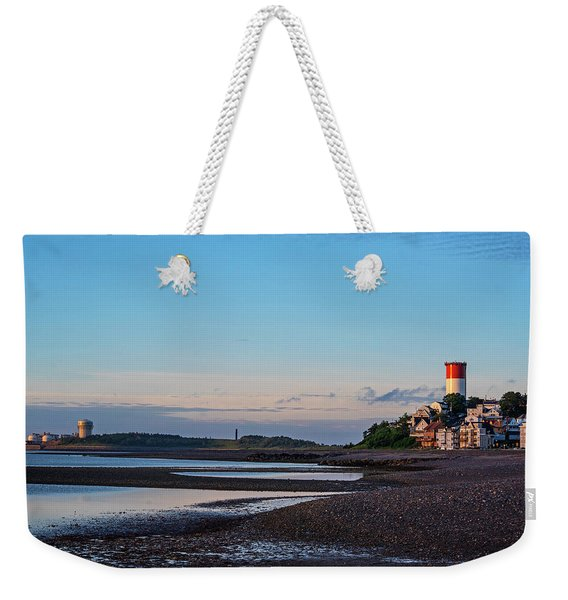Winthrop Ma Beach Reservation Winthrop Water Tower Winthrop Ma Sunrise Weekender Tote Bag