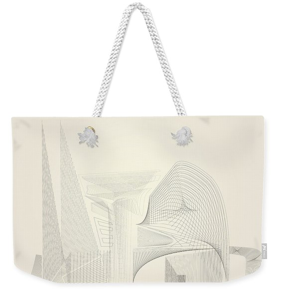 Wire Folly Complex Weekender Tote Bag