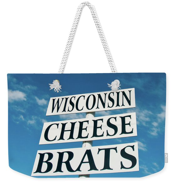 Wisconsin Cheese Brats Sign Weekender Tote Bag