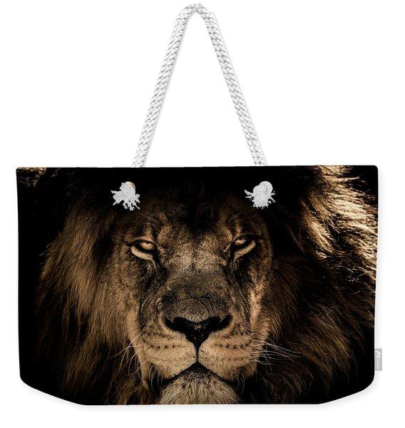 Wise Lion Weekender Tote Bag