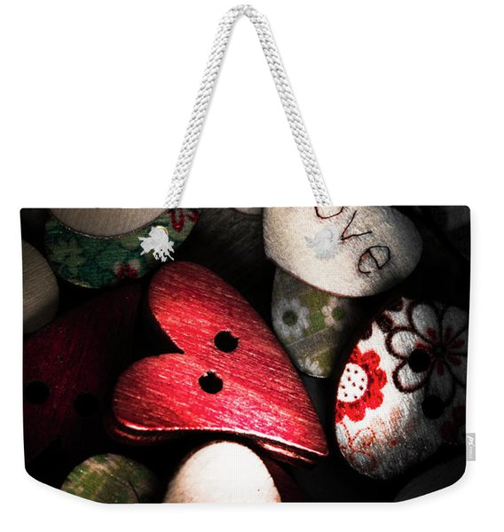 With Sentiment In The Sewing Box Weekender Tote Bag