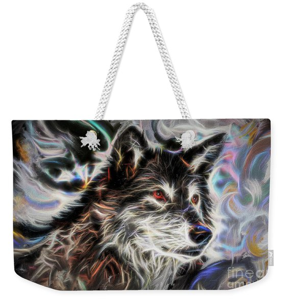 Wolf Animal Totem No2 Weekender Tote Bag
