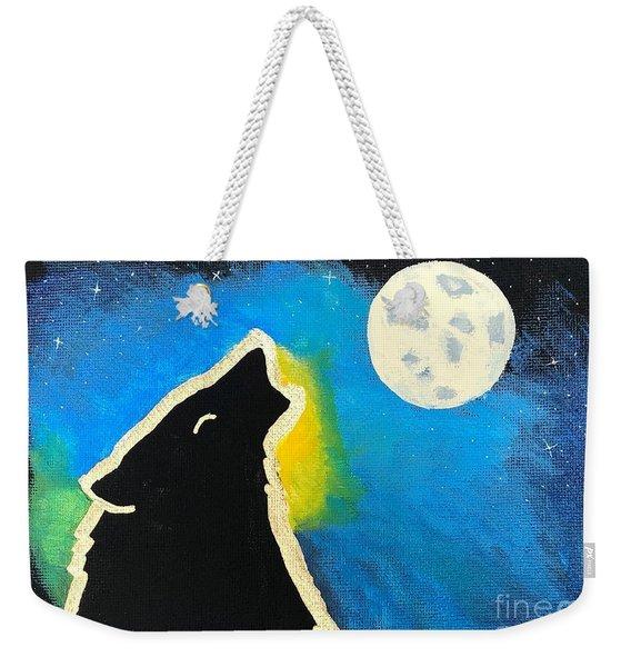 Wolf Moon Weekender Tote Bag