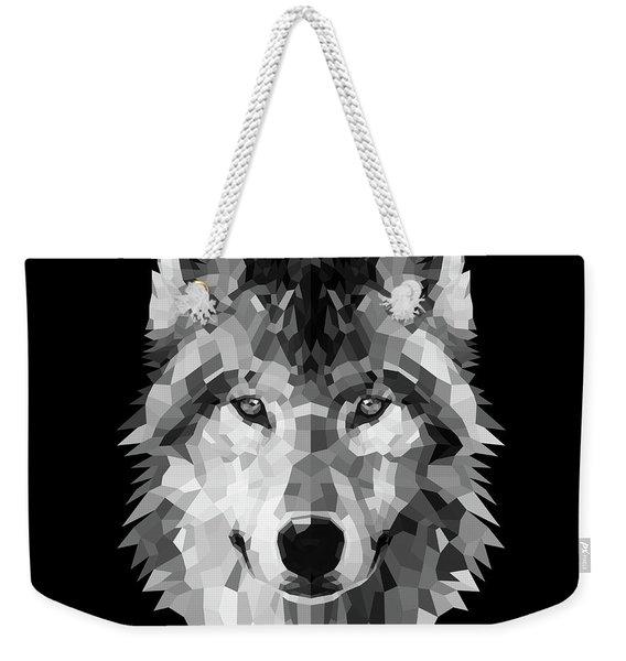 Wolf's Face Weekender Tote Bag