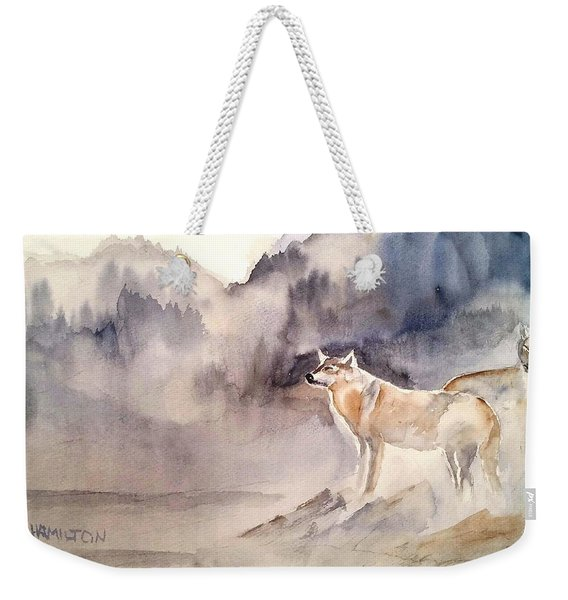 Wolves On Guard Weekender Tote Bag