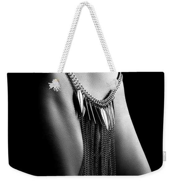 Woman Close-up Chain Panty Weekender Tote Bag