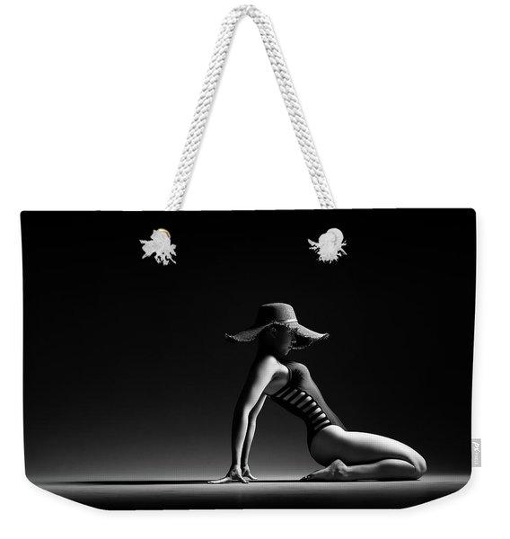 Woman In Black Costume Weekender Tote Bag