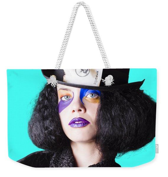 Woman In Joker Costume Weekender Tote Bag