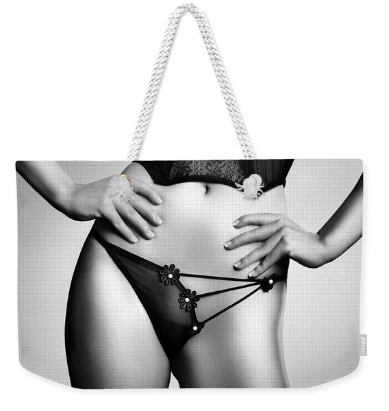 Woman In Lingerie Weekender Tote Bag