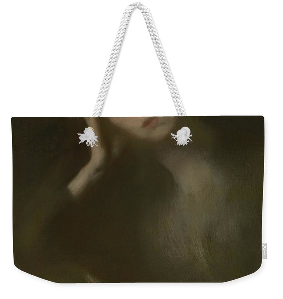Woman Leaning On A Table, 1893 Weekender Tote Bag