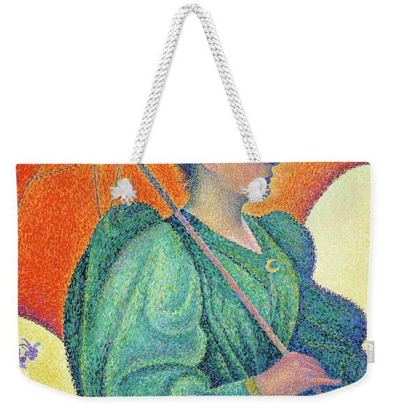 Woman With A Parasol - Digital Remastered Edition Weekender Tote Bag