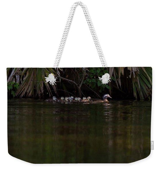 Wood Duck And Ducklings Weekender Tote Bag