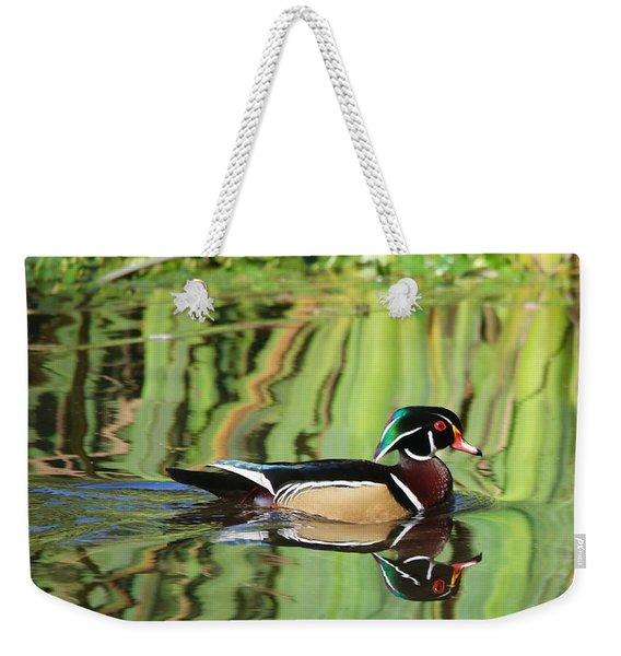 Wood Duck Reflection 2 Weekender Tote Bag