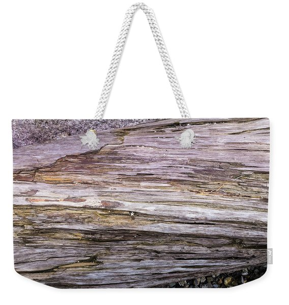 Weekender Tote Bag featuring the photograph Wood Log In Nature No.28 by Juan Contreras