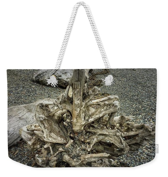 Weekender Tote Bag featuring the photograph Wood Log In Nature No.36 by Juan Contreras