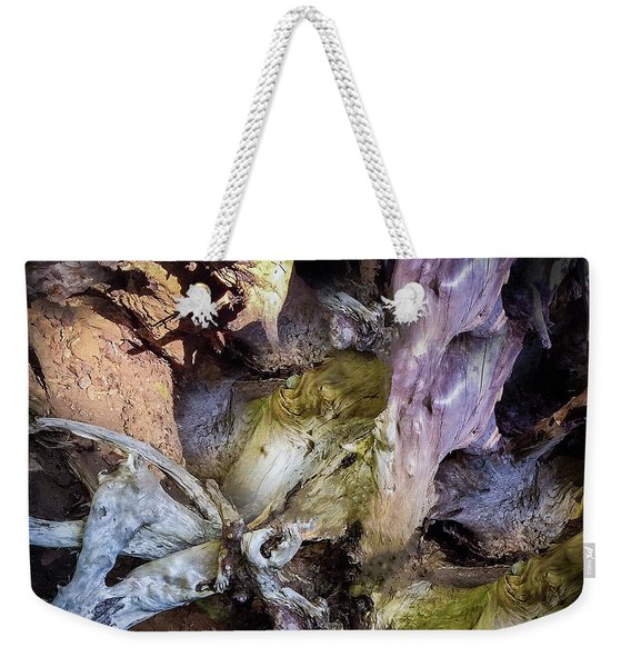 Weekender Tote Bag featuring the photograph Wood Log In Nature No.9  by Juan Contreras