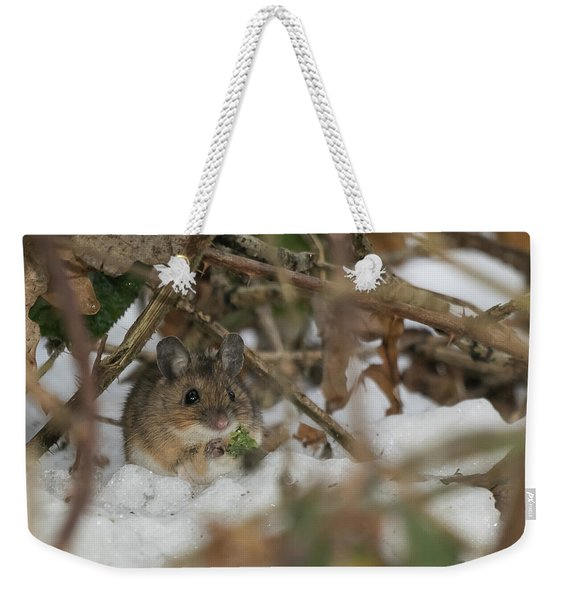 Wood Mouse Weekender Tote Bag