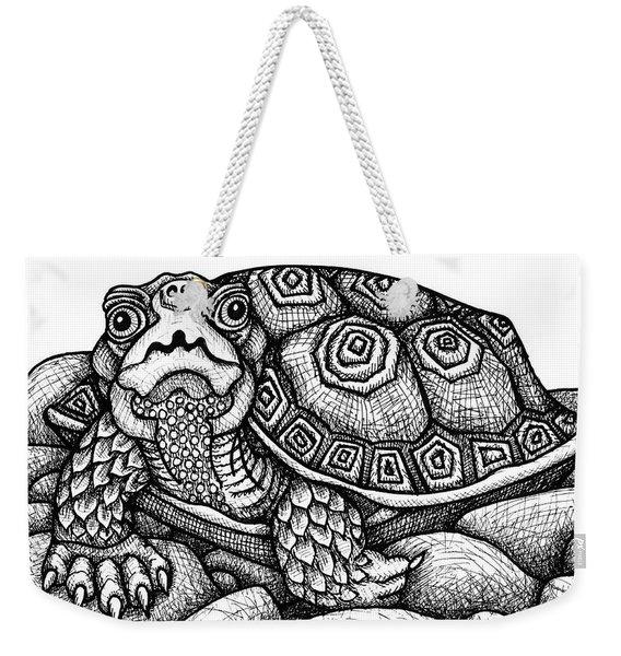 Wood Turtle Weekender Tote Bag