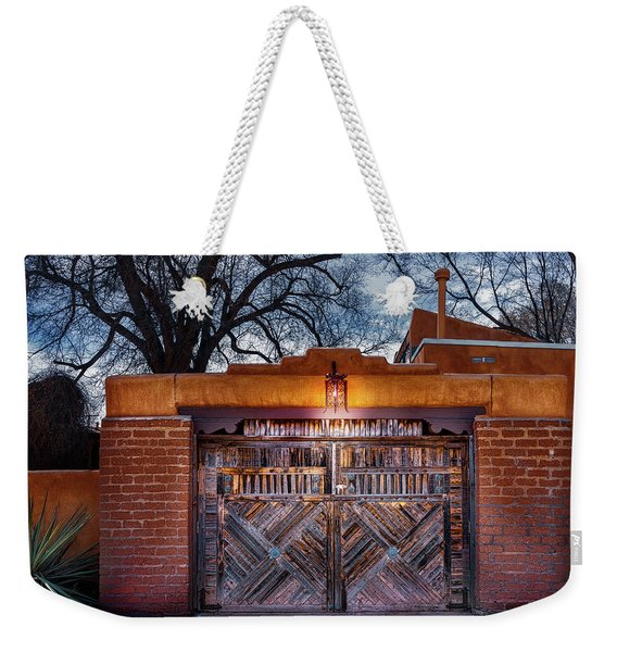 Wooden Gate In The Eve Weekender Tote Bag