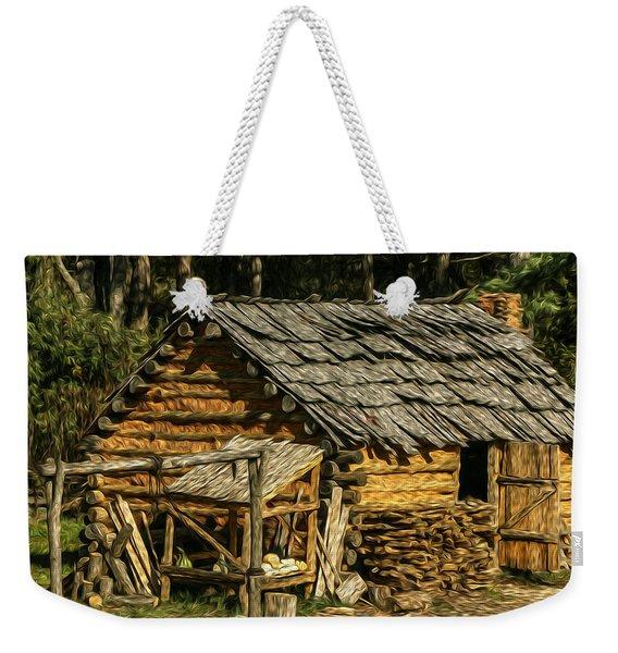 Wooden Hut Weekender Tote Bag