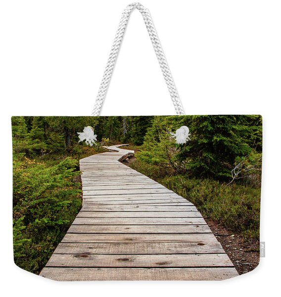 Wooden Walkway Weekender Tote Bag