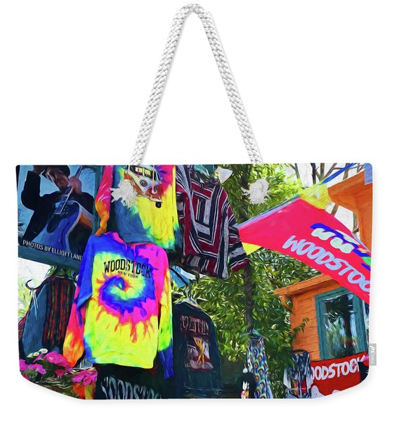 Woodstock Peace And Love 1 Weekender Tote Bag