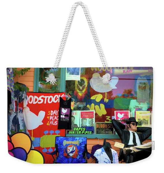 Woodstock Peace And Love 3 Weekender Tote Bag