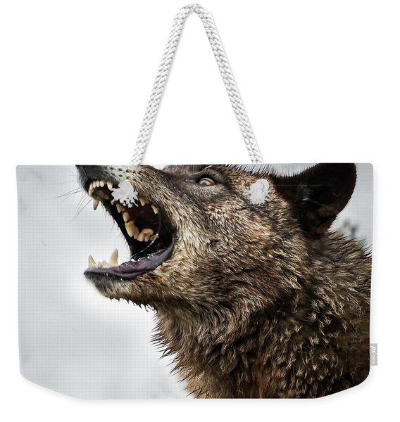 Woof Wolf Weekender Tote Bag