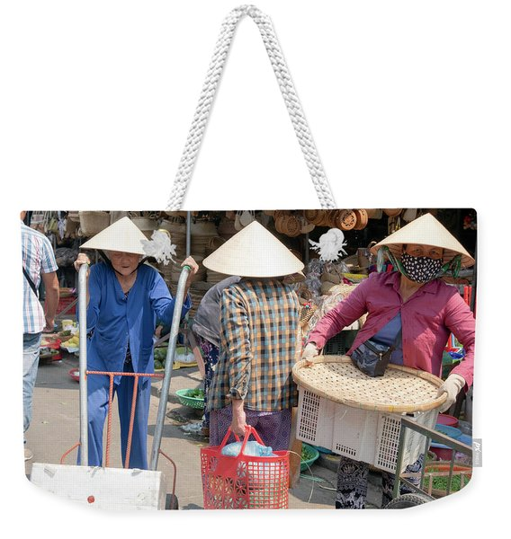 Working Women In Vietnam Weekender Tote Bag