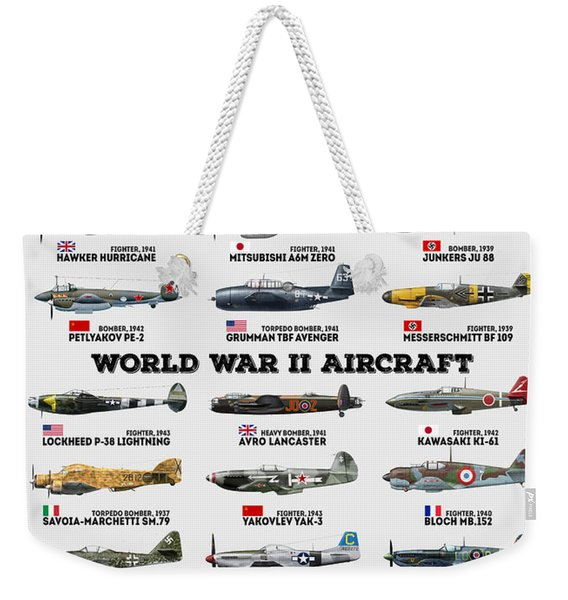 World War II Aircraft Weekender Tote Bag