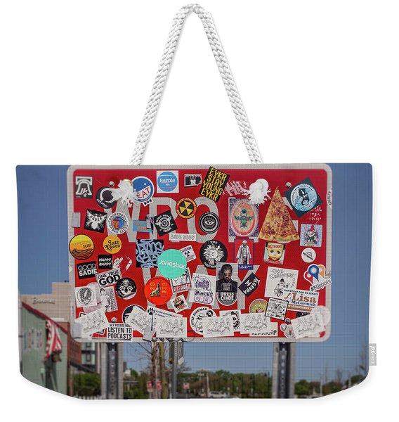 Wrong Way Weekender Tote Bag