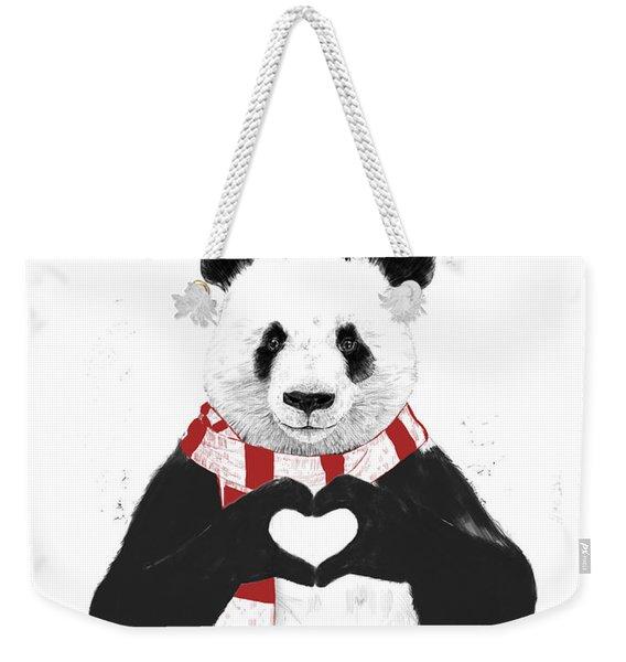 Xmas Panda  Weekender Tote Bag