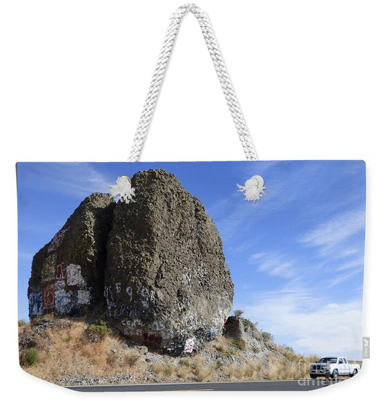 Yeager Rock - A Glacial Erratic Weekender Tote Bag