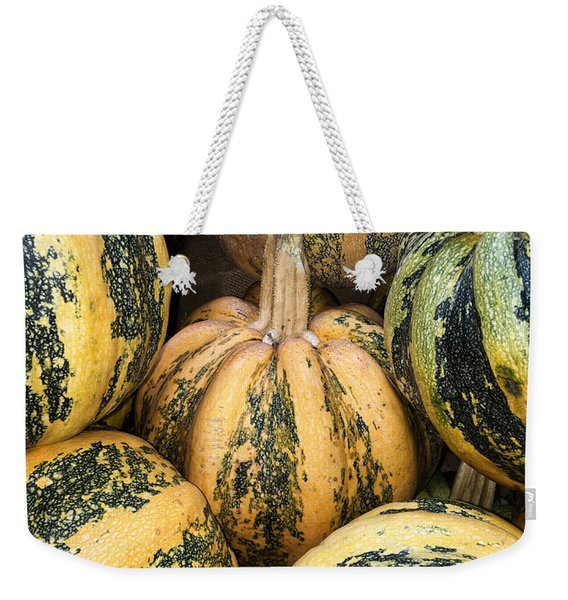 Yellow And Green Pumpkins Weekender Tote Bag