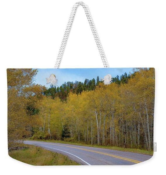 Yellow Aspens Weekender Tote Bag