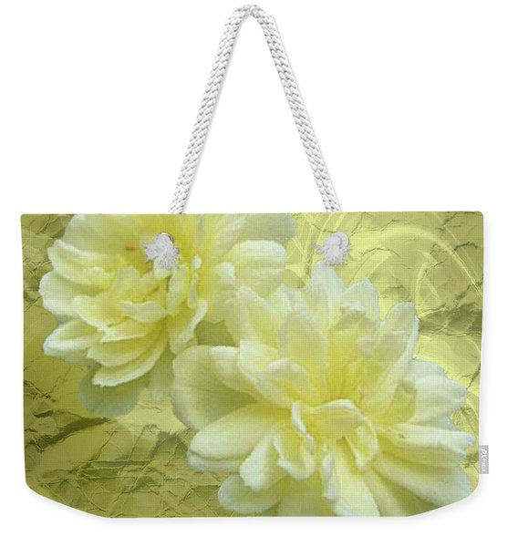 Yellow Foil Weekender Tote Bag