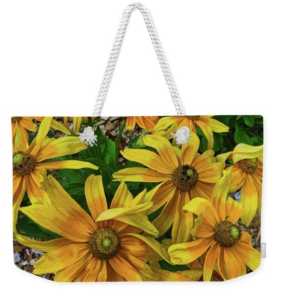 Yellow In Bloom Weekender Tote Bag