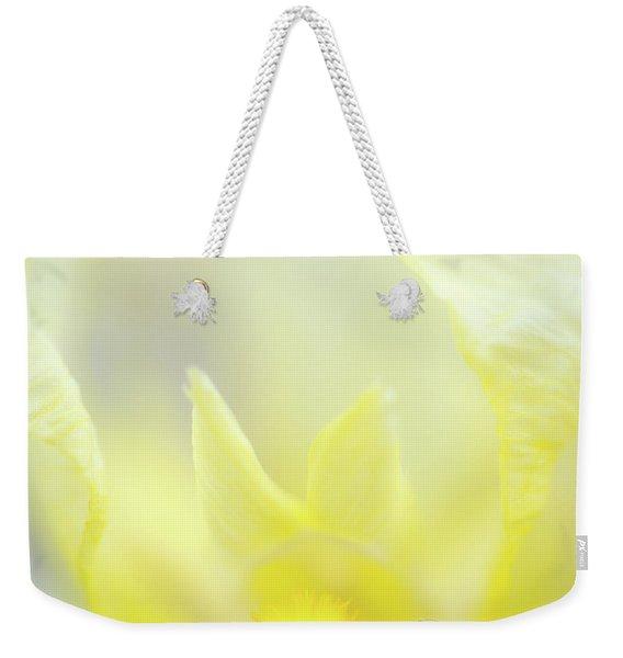 Yellow Iris 4 Weekender Tote Bag