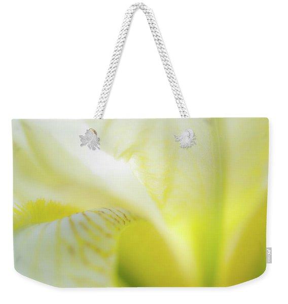 Yellow Iris 5 Weekender Tote Bag