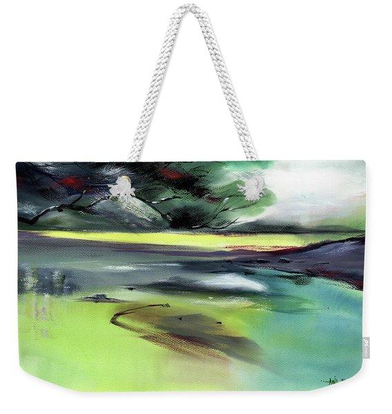Yellow Lake Weekender Tote Bag