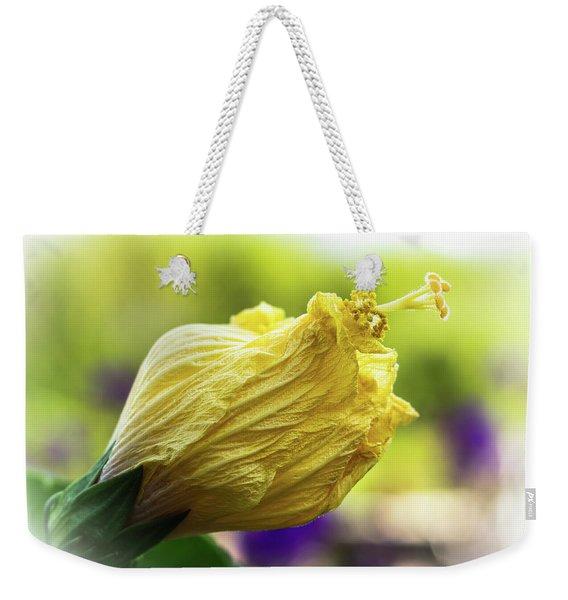 Yellow Mature Hibiscus  Weekender Tote Bag