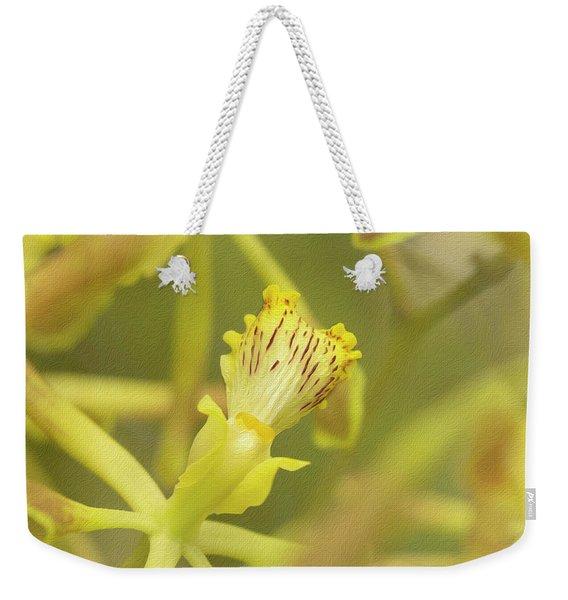 Yellow Orchid Weekender Tote Bag