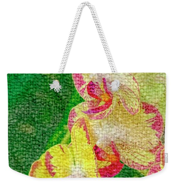 Yellow/rouge Orchids Weekender Tote Bag